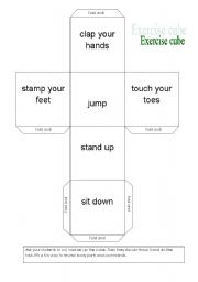 English Worksheets: Exercise cube