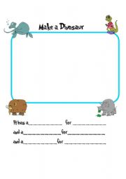 English Worksheet: *****Draw Your Own Original Dinosaur***** Great Fun for All Ages****-
