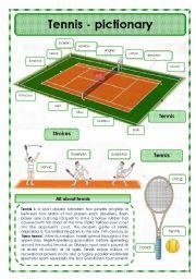 English Worksheet: Tennis- pictionary