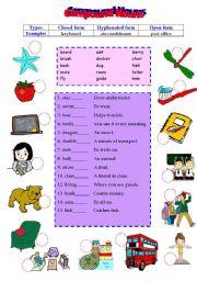 compound nouns exercises worksheets pdf