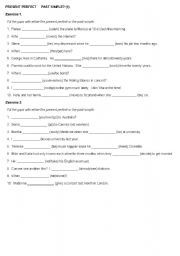 English worksheet: Present Perfect-Past Simple