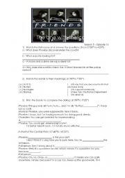 English Worksheet: FRIENDS - The one with the cop (police / crime)