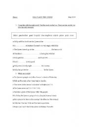English worksheet: Billy and the Queen