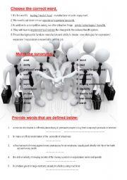 !!! BUSINESS  ENGLISH !!  3 exercises + KEY