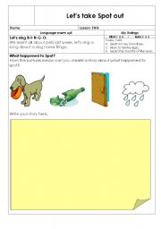 English Worksheets: Let take Spot out