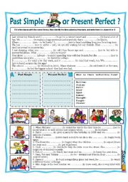English Worksheet: Past Simple or Present  Perfect?