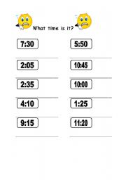 digital clock worksheet tell the time wor...