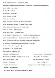 English Worksheets: description of the pictures