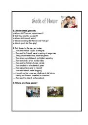 English Worksheets: Movie: Made of Honor