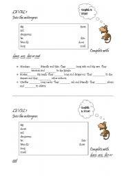 English Worksheets: Animals: practice