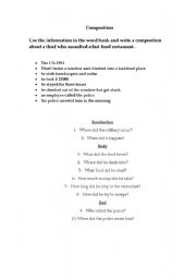 English Worksheets: A robbery