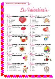 English Worksheet: St. Valentine´s