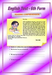 English Worksheets: Peter�s daily routine - 5 pages