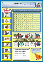 English Worksheets: WHAT TIME HAS SHE GOT ENGLISH?