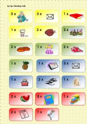 Going shopping boardgame 3/3