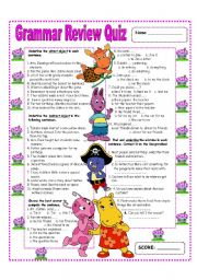 English Worksheet: GRAMMAR REVIEW - DIRECT AND INDIRECT OBJECTS  (1/1)