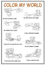 COLOR MY WORLD - ESL worksheet by Popina