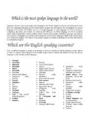 English Worksheets: Introduction to English Language