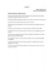English Worksheets: TOEFL EXERCISES