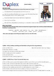 English Worksheets: Movie Guide: DUPLEX (Ben Stiller & Drew Barrymore) - COMEDY