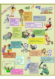 English Worksheet: ed and -ing adjectives easily confused