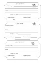English Worksheets: Action Contracts