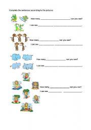 English Worksheets: animals activity