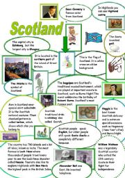 English Worksheet: WHAT IS SO SPECIAL ABOUT SCOTLAND?
