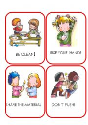 English worksheet: RULES flaskcards 1/2