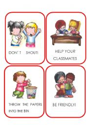 English Worksheets:  RULES_ flashcards SET 2/2