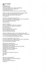 Mr President Lyrics
