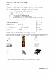 English Worksheets: BOOK: THREE MUSKETEERS