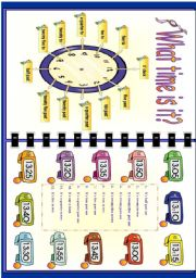 English Worksheet: Telling the time