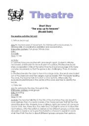 English Worksheet: Lesson plan on the short story
