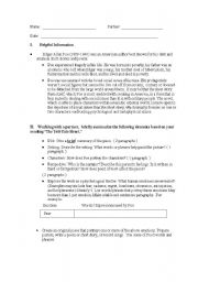 English Worksheets: Literature: Discussion questions for