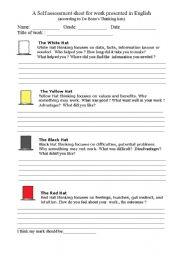 A Selfessment Sheet