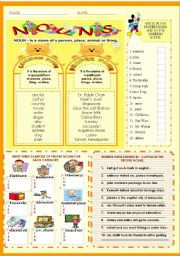 English worksheet: NOUNS