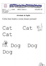 English Worksheet: aninals dot to dot