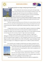RENEWABLE ENERGY- READING COMPREHENSION