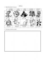 English Worksheets: Drawing animals