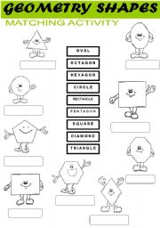English Worksheet: Shape | Recognition | Matching Activity
