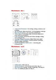 English Worksheets: worksheets list
