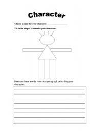 Worksheets Character Worksheets english teaching worksheets describing character a character
