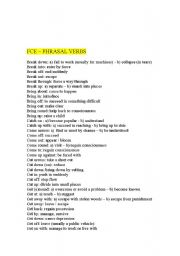 English Worksheet: Phrasal verbs for First Certificate