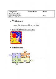 English Worksheets: numeration 4