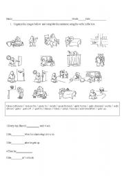 English Worksheets: Dairy routines