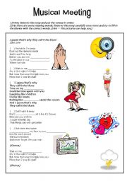 English Worksheet: SONG: I GUESS THAT�S WHY THEY CALL IT THE BLUES (Elton John)