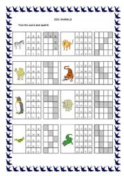 English Worksheets: ZOO ANIMALS