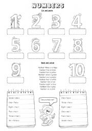 English Worksheets: Numbers (1 to 10)