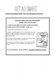 English Worksheets: GET AD SMART
